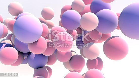 istock Floating Multicolored Balls Background 1026123584