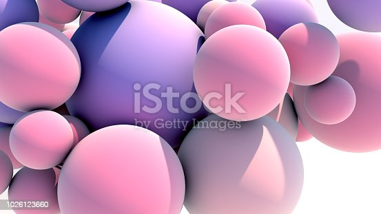istock Floating Multicolored Balls Background 1026123660