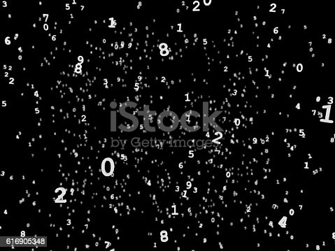 511983606istockphoto Floating Numbers White on Black Background 616905348