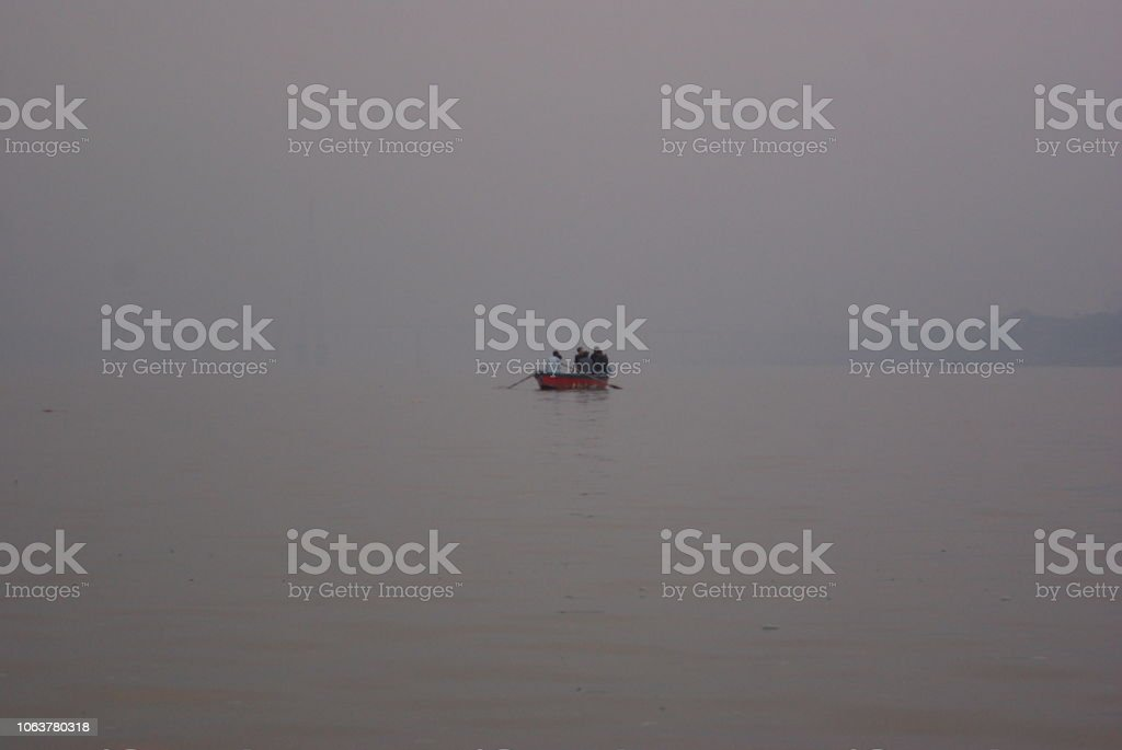 Floating On A Boat stock photo