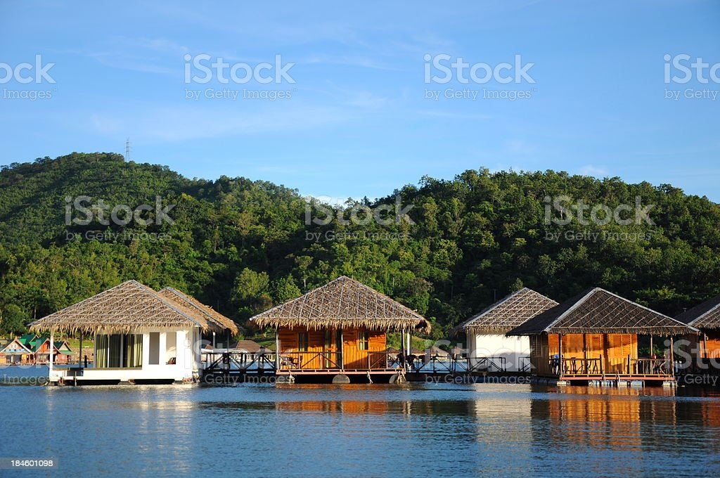 Floating on water Hotel royalty-free stock photo