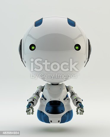 istock Floating robotic toy 483984934