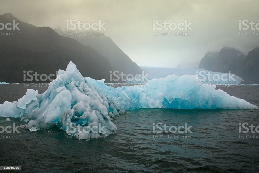 Floating sea ice - San Rafael Glacier - Chile stock photo