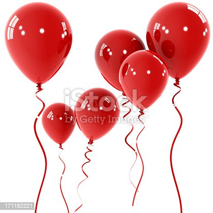 511983606istockphoto Floating shiny red balloons with red string 171152221