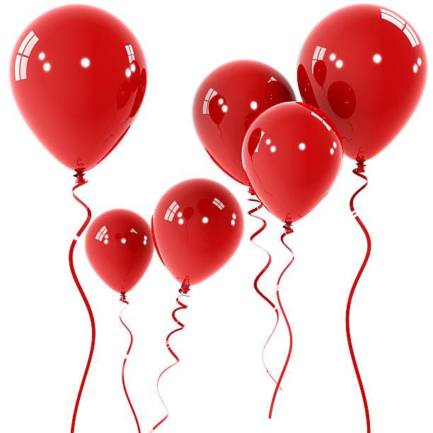 rote ballons - bandanzeige stock-fotos und bilder