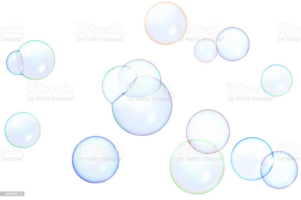 floating soap bubbles stock photo