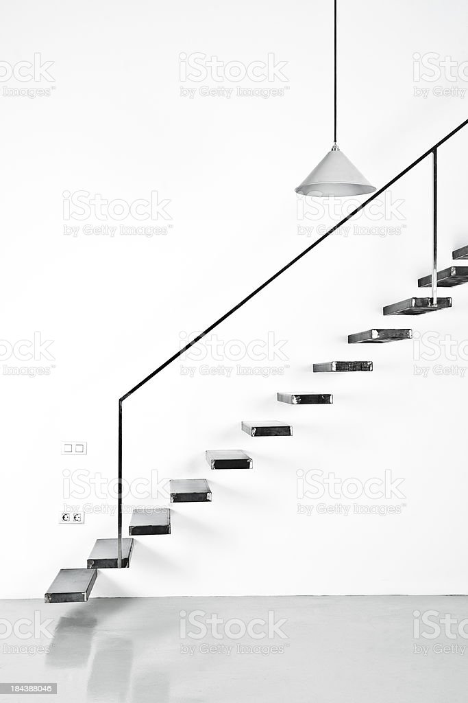 Floating Staircase Stock Photo