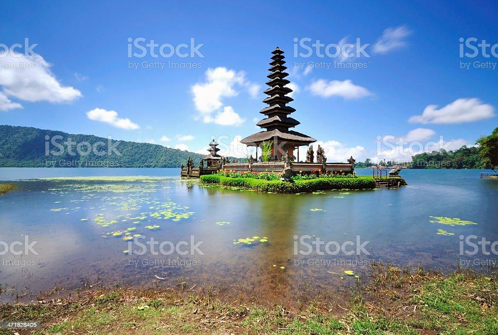 Floating Temple in Lake Bedugul, Bali royalty-free stock photo