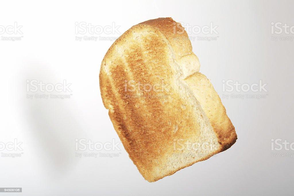 Floating toast 2 stock photo