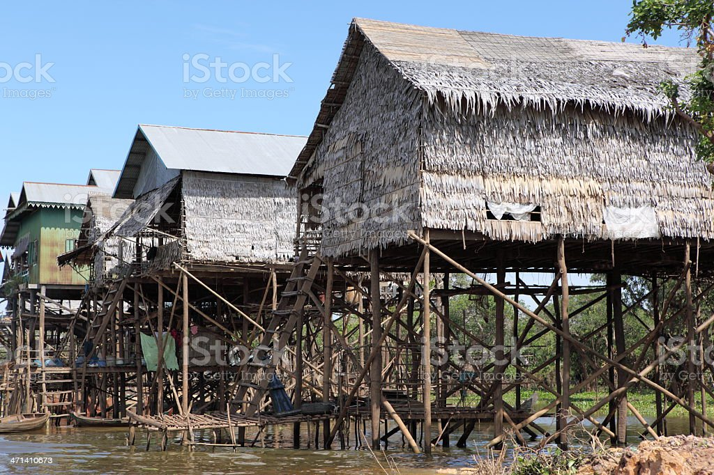 Floating village, Cambodia royalty-free stock photo