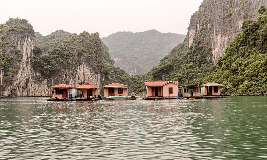 Zwevende Dorp In Halong Bay Vietnam Stockfoto en meer beelden van Avontuur