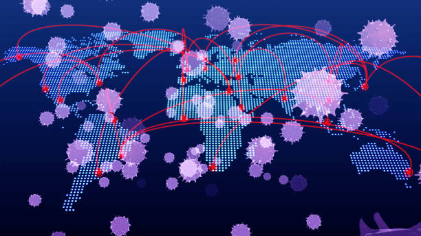 Floating virus. 3D Medical technology. Floating virus. 3D Medical technology. morbillivirus stock pictures, royalty-free photos & images