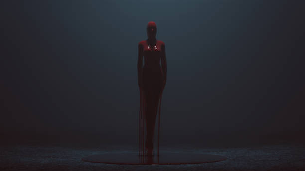 femme flottante couvert de sang - vampire femme photos et images de collection