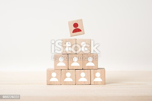 istock floating wooden cube with human resource concept on wood floor 935226222