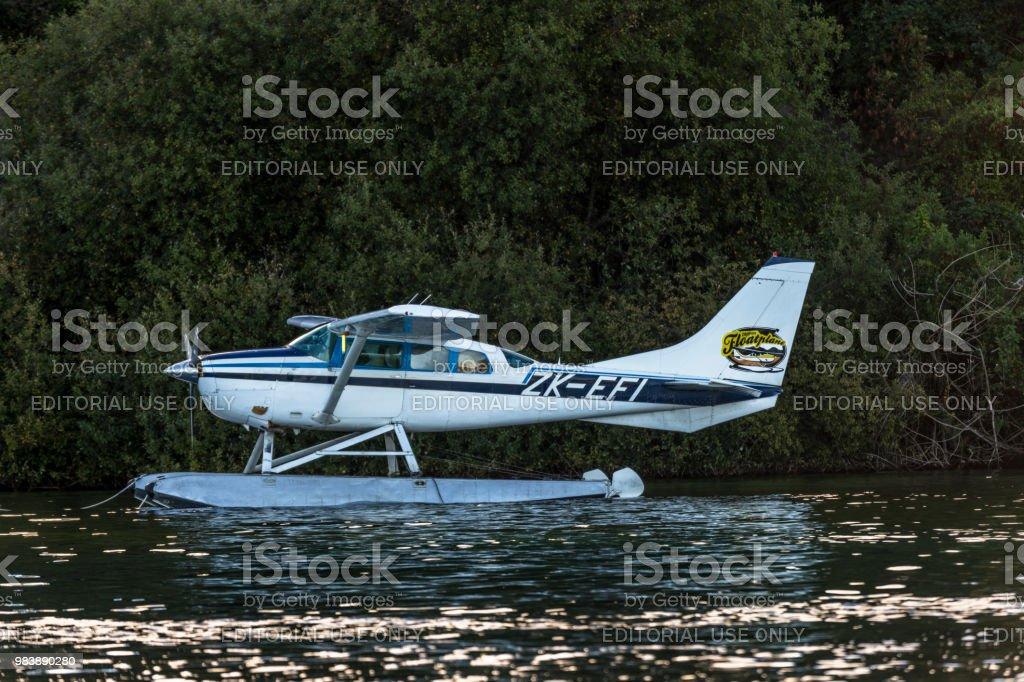 Floatplane Pier In Lake Taupo New Zealand Stock Photo & More