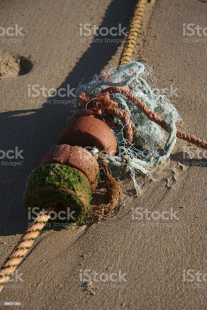 Floats and rope royalty-free stock photo