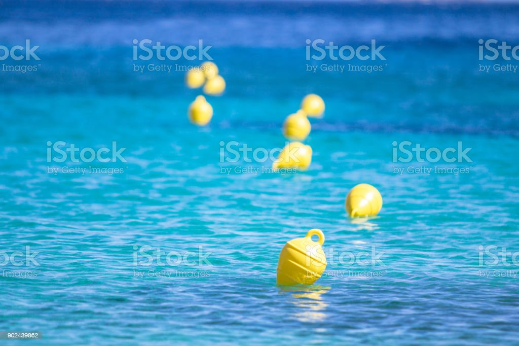 Floats in the water stock photo