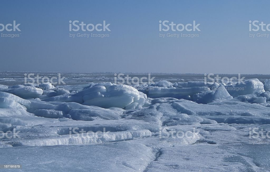 floats of ice royalty-free stock photo