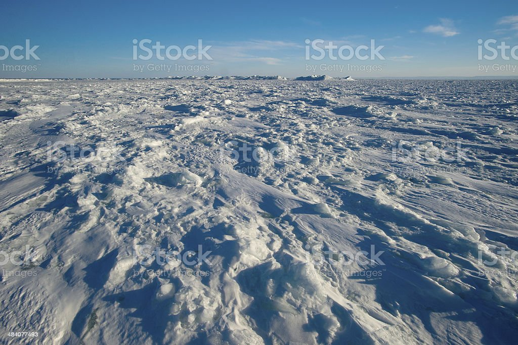 floats of ice stock photo