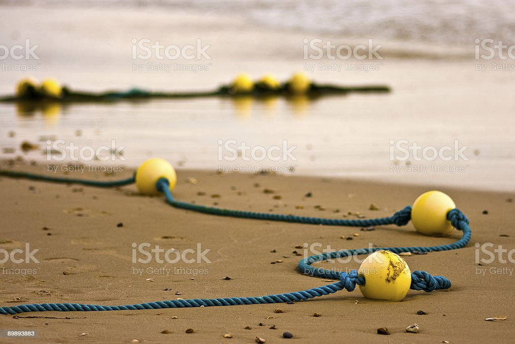 Floats on the Beach royalty-free stock photo