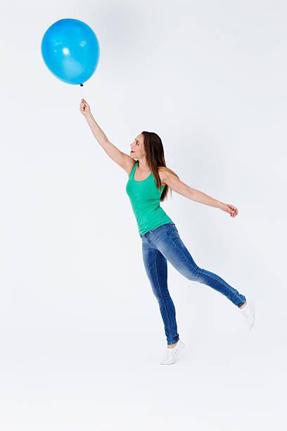floaty girl - ballonhose stock-fotos und bilder