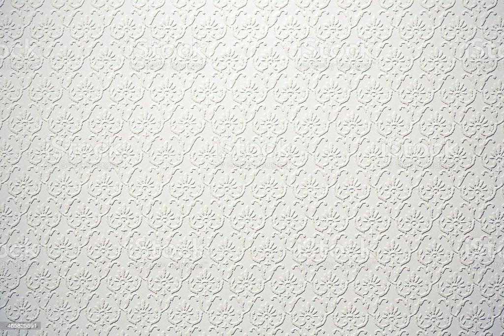 Flocked Vintage White Wallpaper royalty-free stock photo