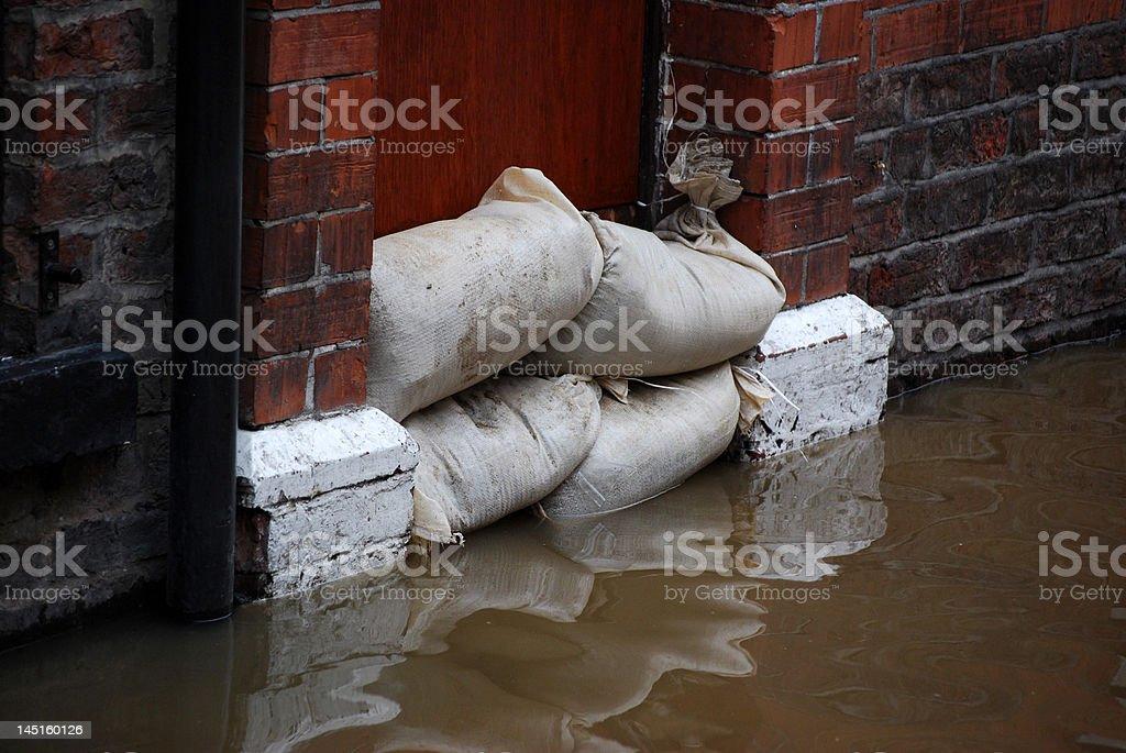 Flood defences stock photo