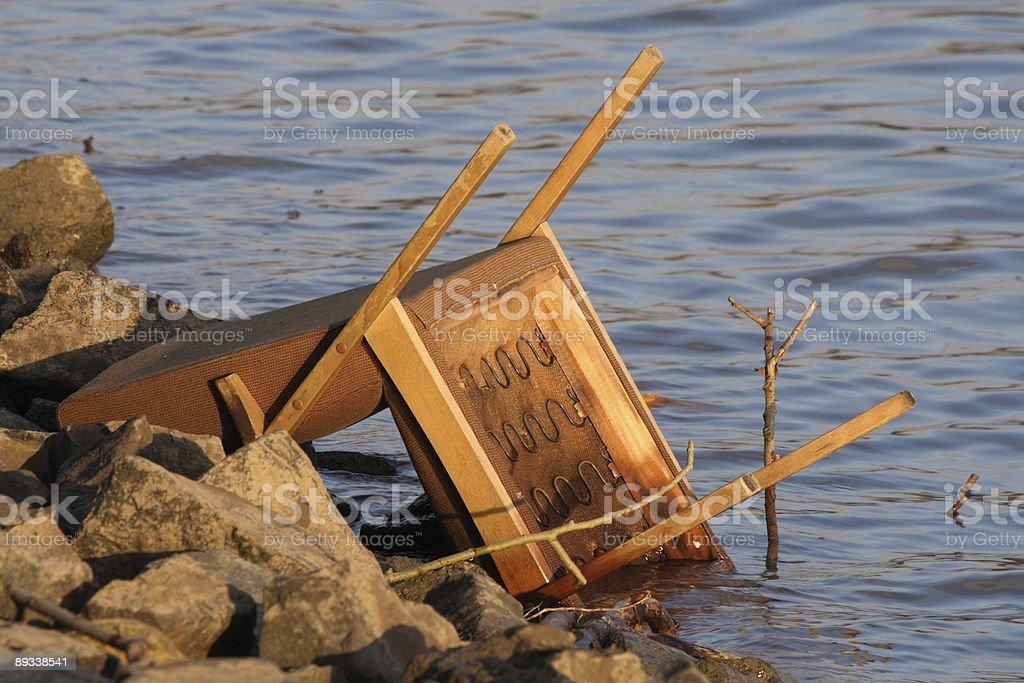 Flood disaster royalty-free stock photo