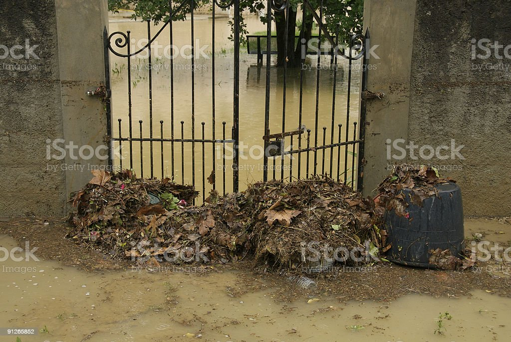 Flood gates stock photo