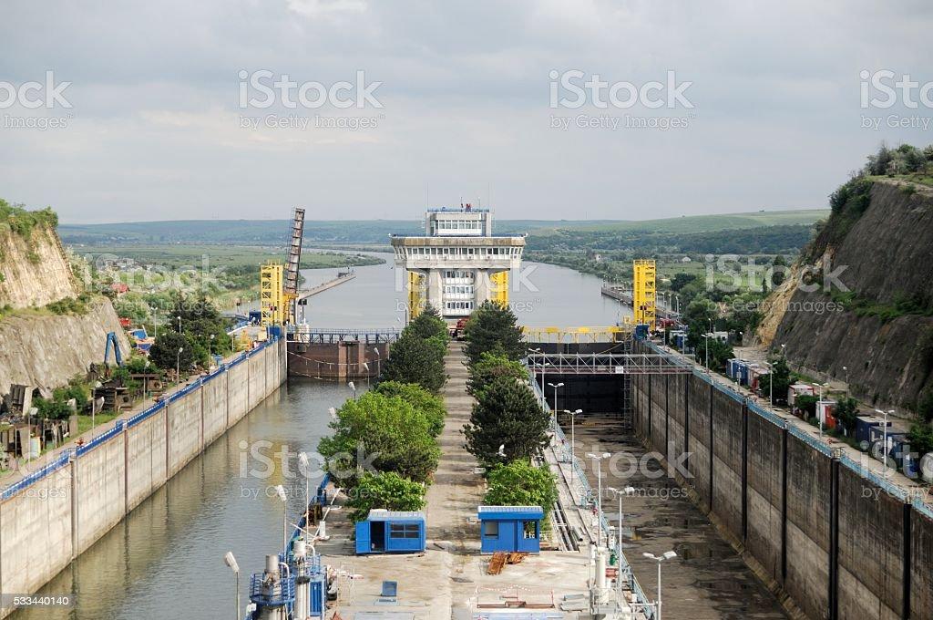 Flood Gate/Sluice Complex stock photo
