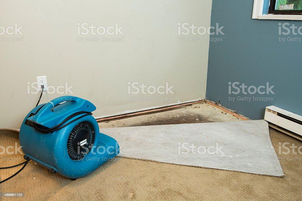 Flood home restoration stock photo