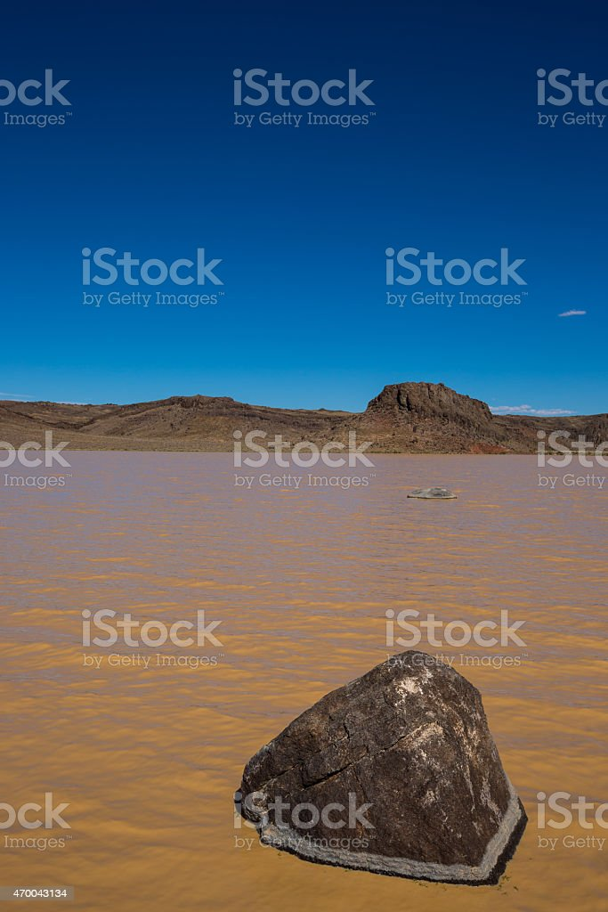 Flood in Area 51 Vertical stock photo