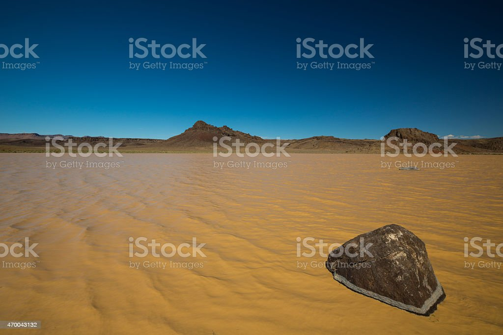 Flood in Area 51 Wide stock photo