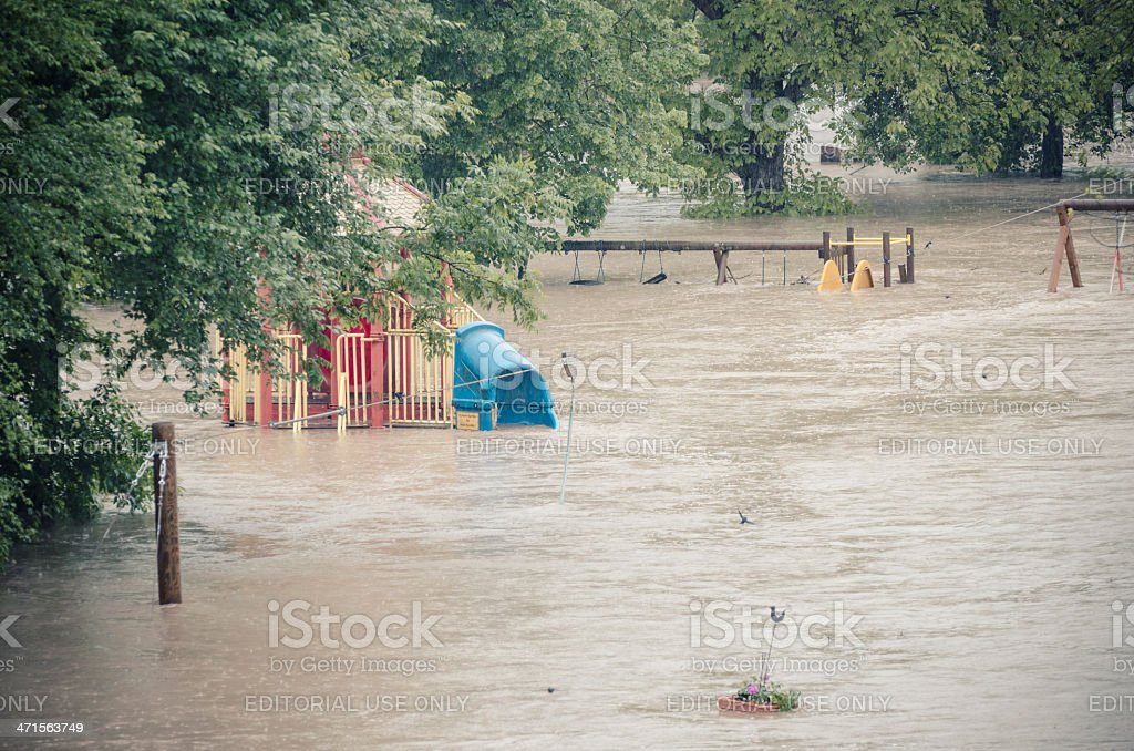 Flood in Burghausen June 2013 royalty-free stock photo