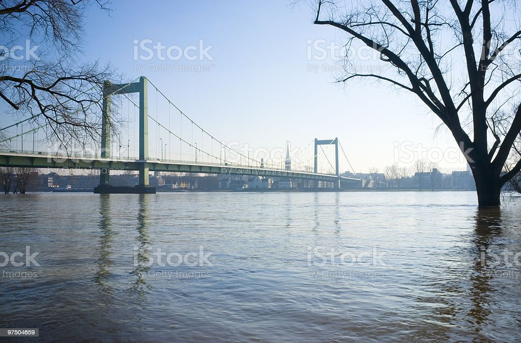 Flood in Cologne royalty-free stock photo