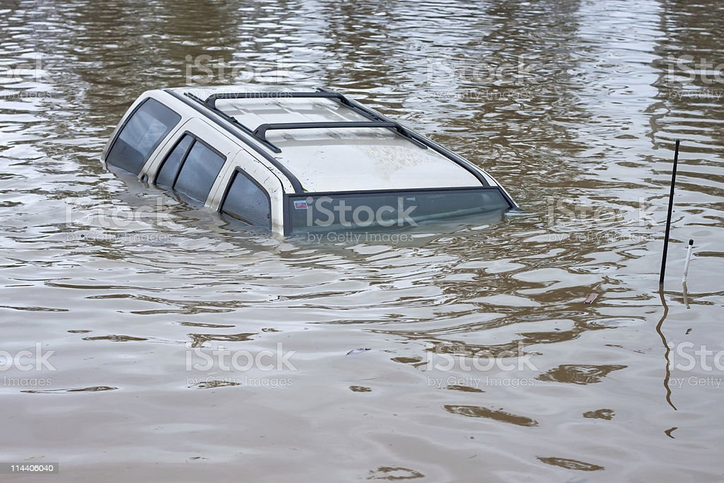Flood Insurance Car royalty-free stock photo