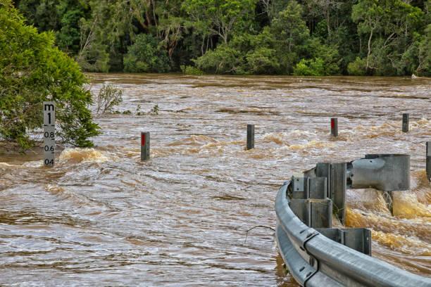 Flood Marker stock photo