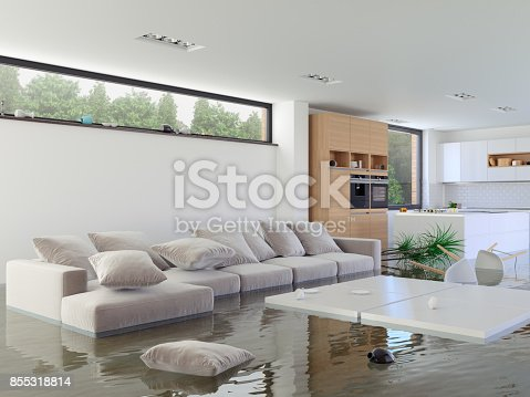 Flooding in the kitchen and livingroom