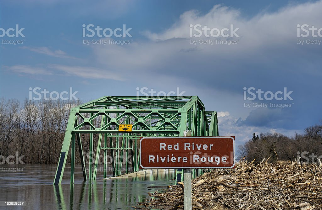 Flood Red River 2011 royalty-free stock photo