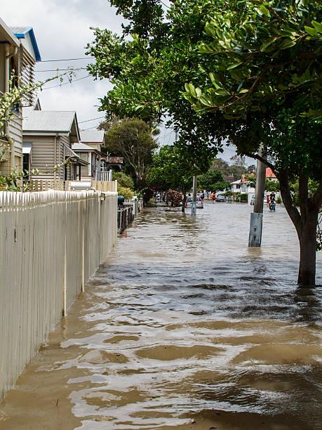 Flood Street in Brisbane stock photo