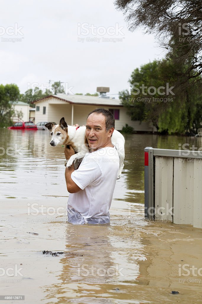 Flood Waters stock photo