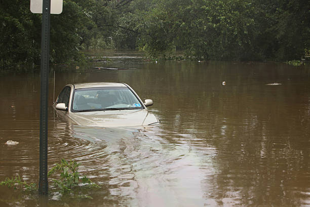 Flooded Car stock photo