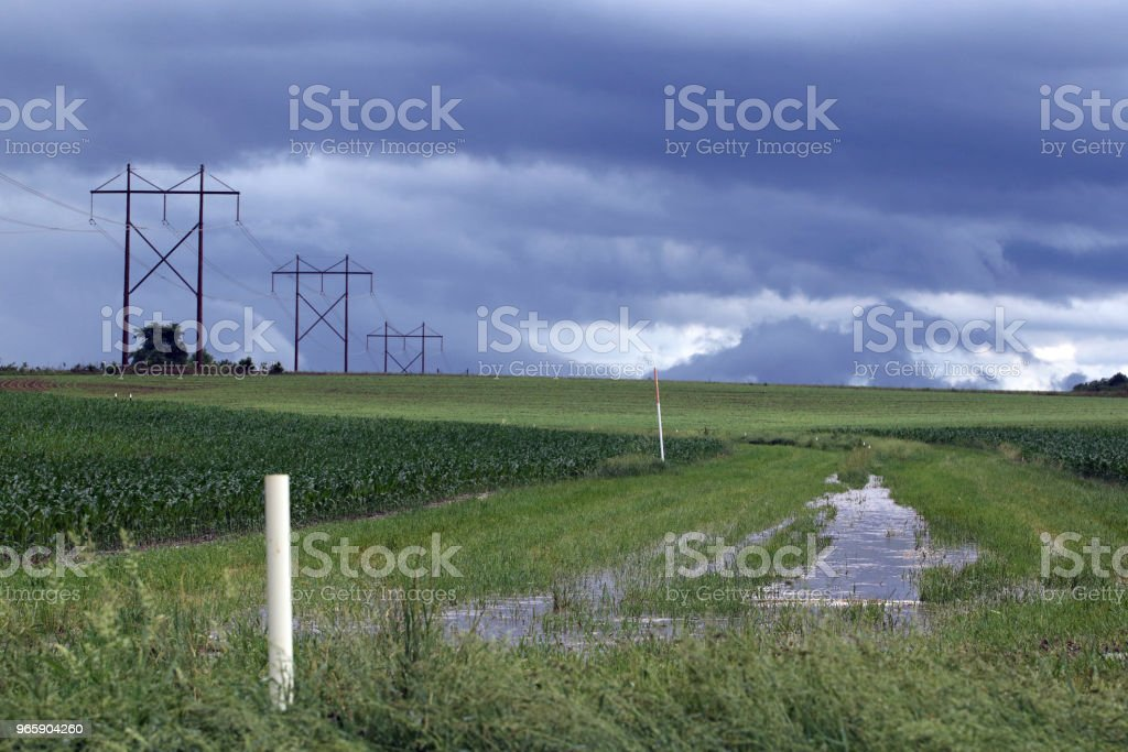 Flooded Field - Royalty-free Accidents and Disasters Stock Photo