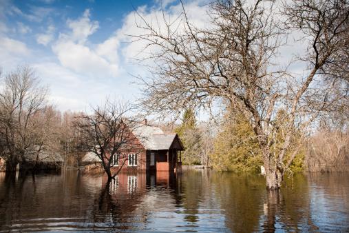 Spring floods.