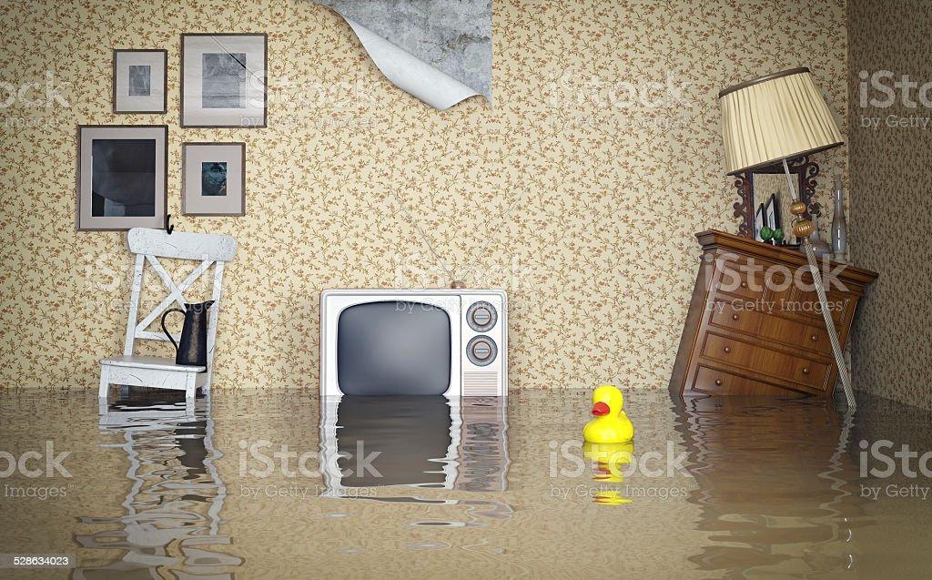 Flooded interior stock photo