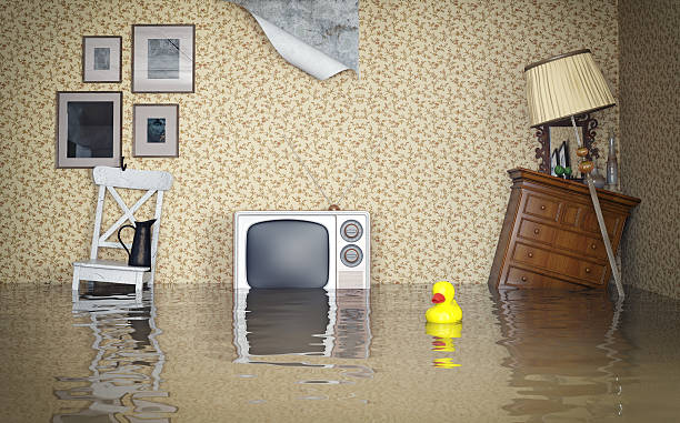 flooded interior - damaged stock photos and pictures