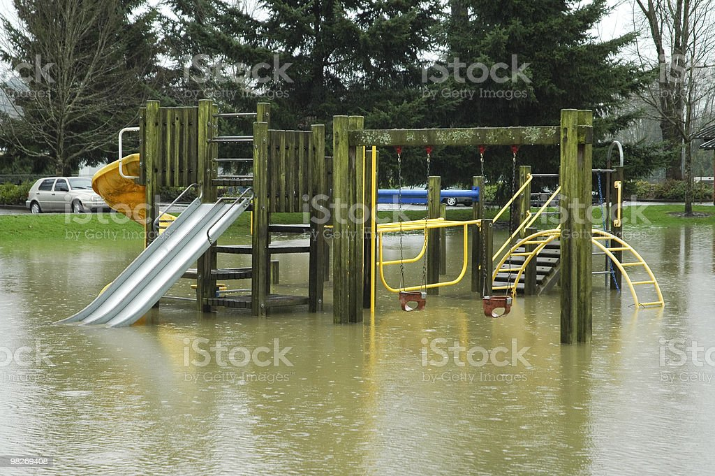 Flooded Playground royalty-free stock photo