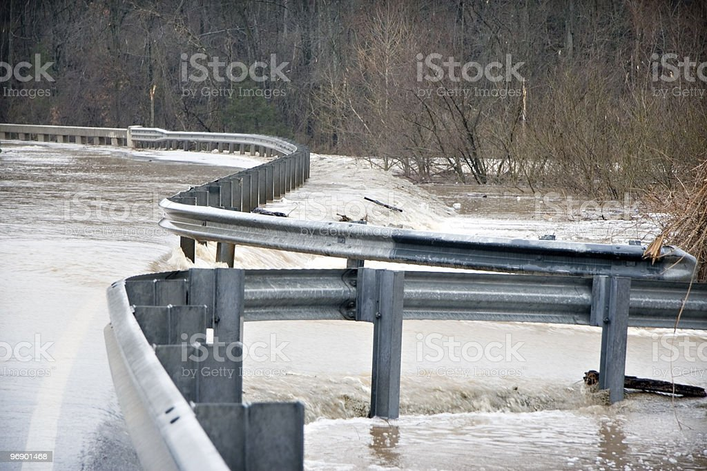 Flooded Road royalty-free stock photo