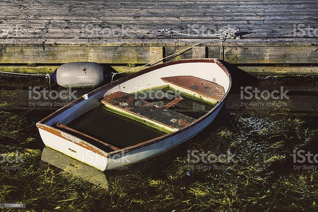 Flooded Rowboat royalty-free stock photo