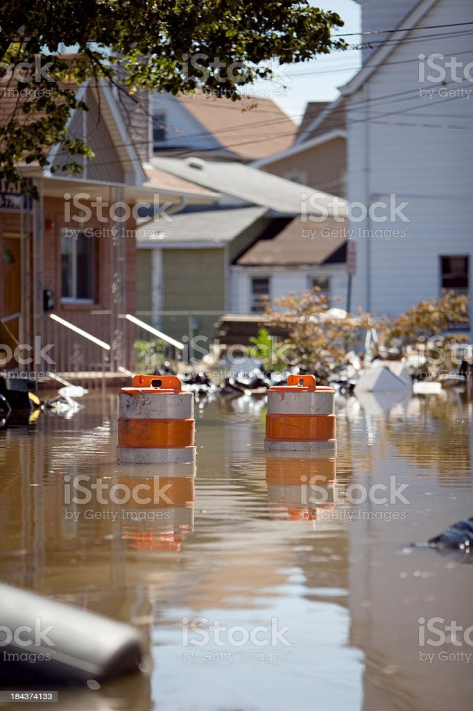 Flooded Streets royalty-free stock photo